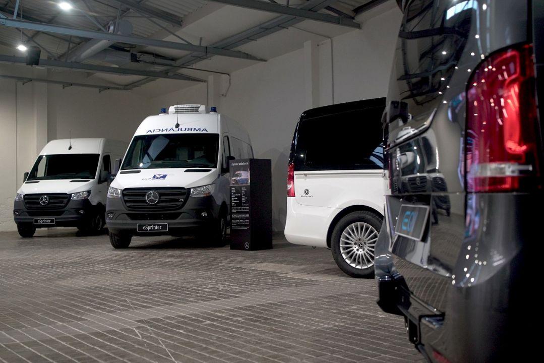 Furgonetas eléctricas de Mercedes y Mercedes EQA